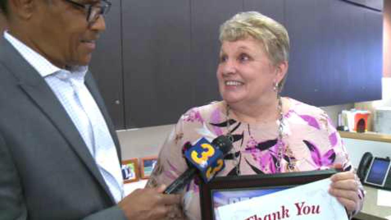 People Taking Action: Virginia Beach woman surprised at work, honored for volunteeringefforts!