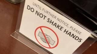 No shake hands