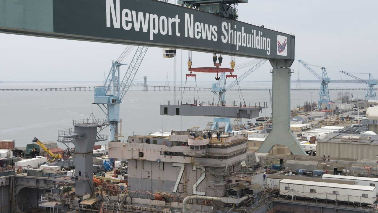 At least 1,500 layoffs expected at Newport News Shipbuilding over the next twoyears