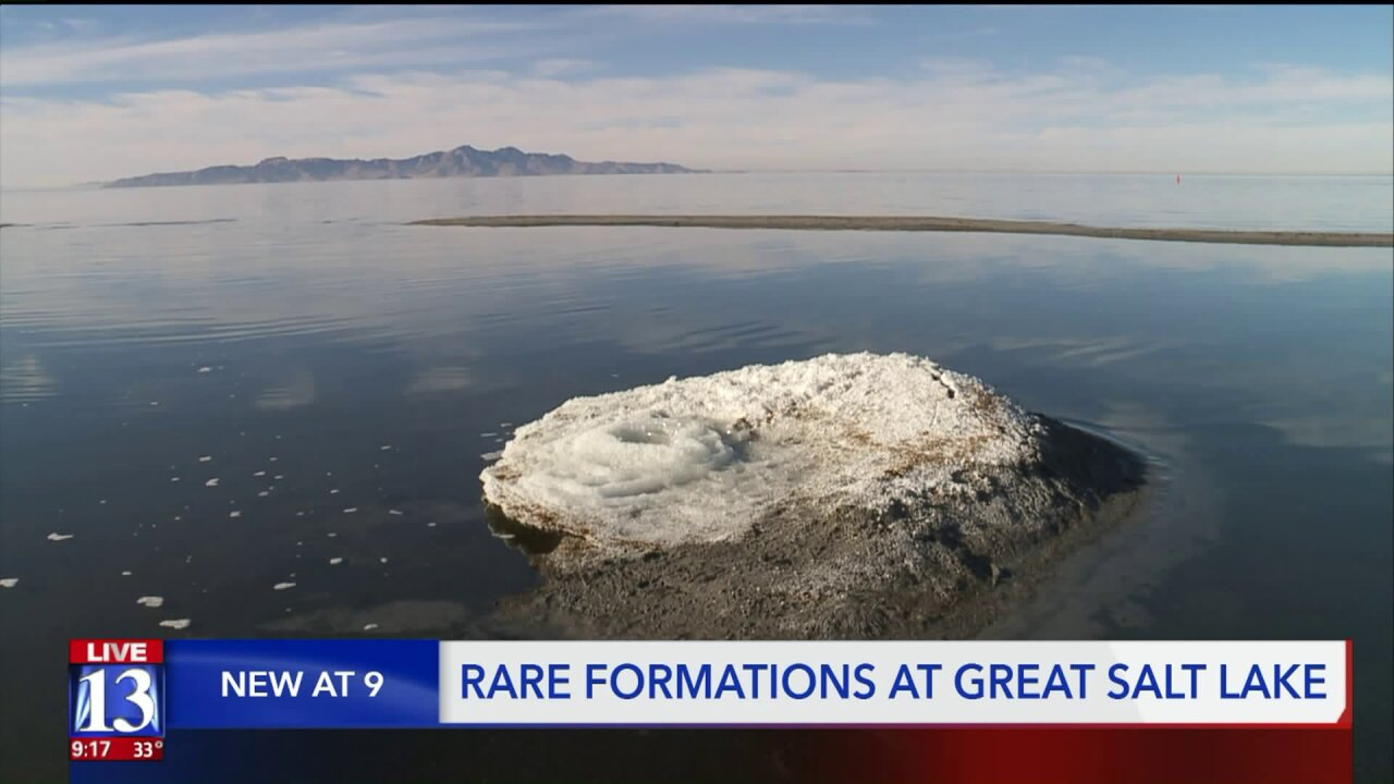 Rare mineral formations common to polar cap, Mars, detected on Great Salt Lake