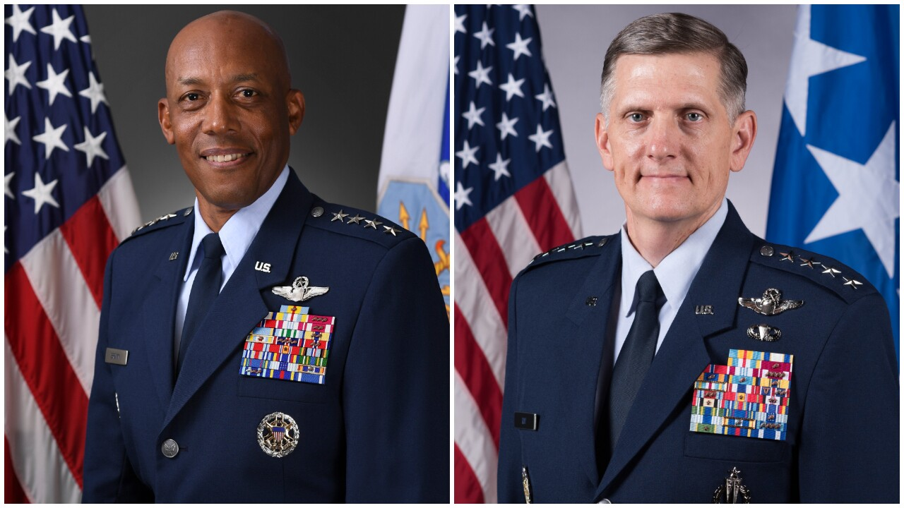 Charles Brown Jr (Chief of Staff of the U.S. Air Force), General Timothy Ray (commander of Air Force Global Strike Command)