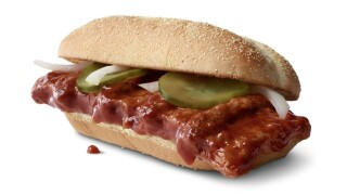 McRib returning to McDonald's on Dec. 2 and it will be available nationwide