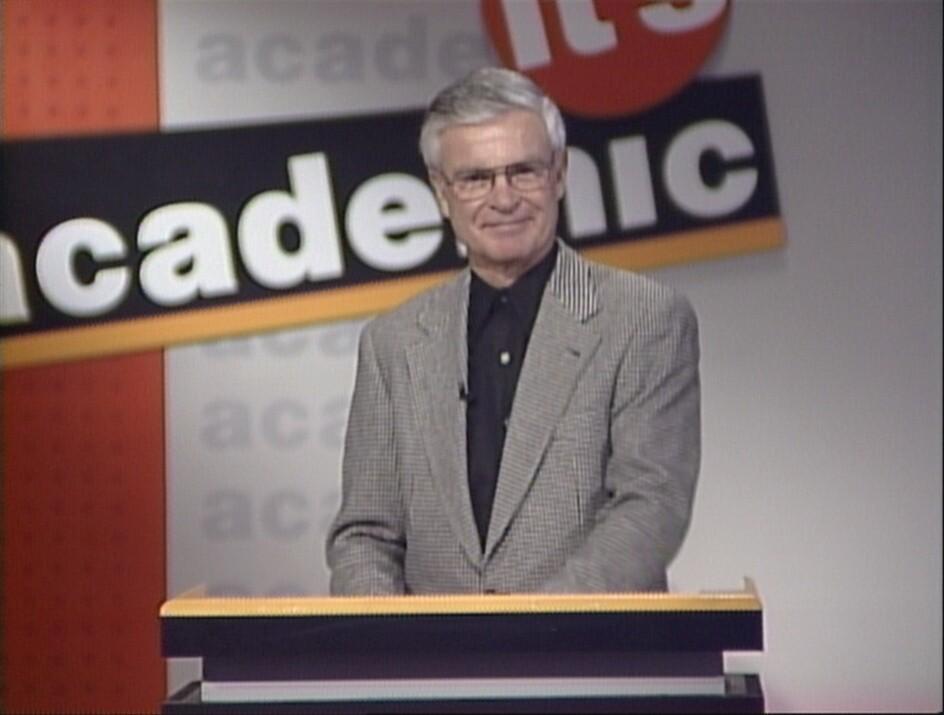 Don Webster hosting Academic Challenge