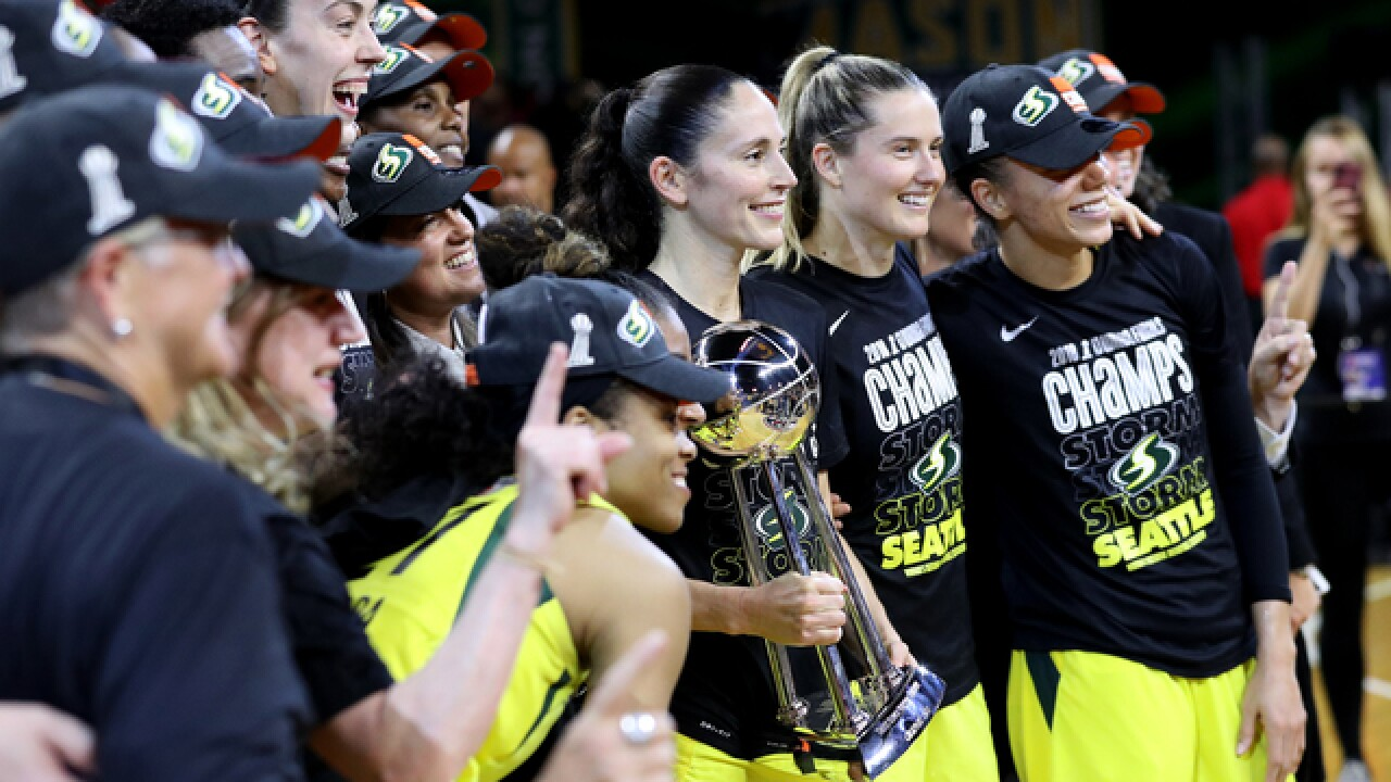 Stewart, Storm surge past Mystics for WNBA title