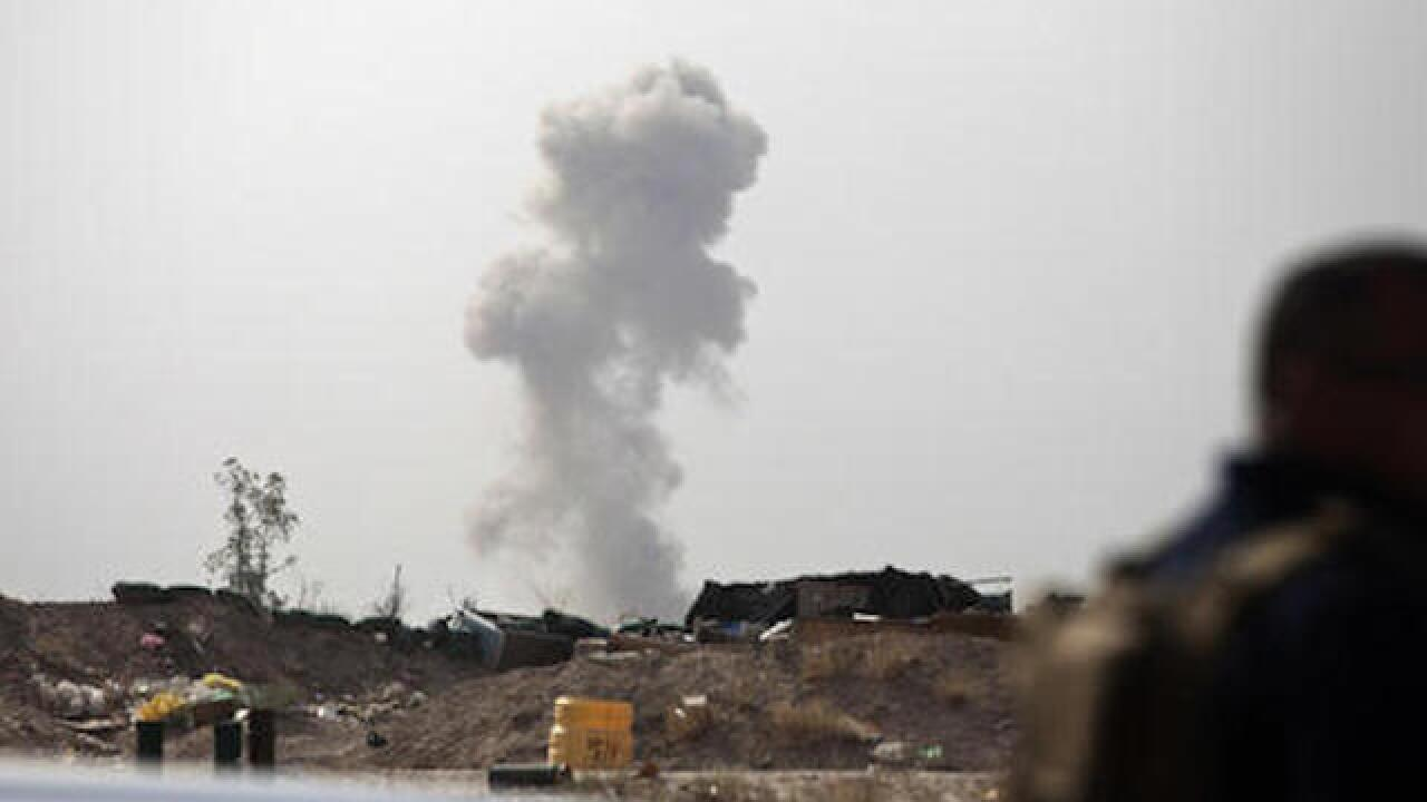 Iraqi forces battling ISIS in Fallujah