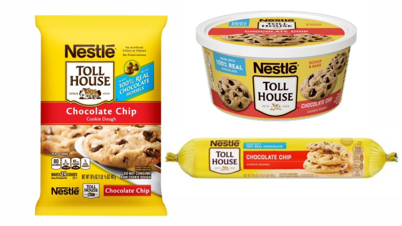 Nestlé recalls ready-to-bake refrigerated cookie dough due to possible rubber in products