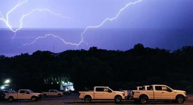 PHOTOS: Lightning strikes in overnight storms