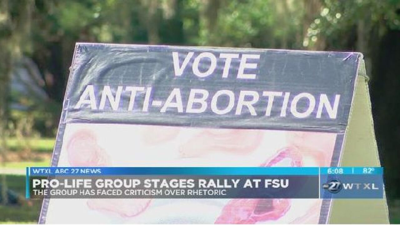 Pro-life group holds rally at FSU