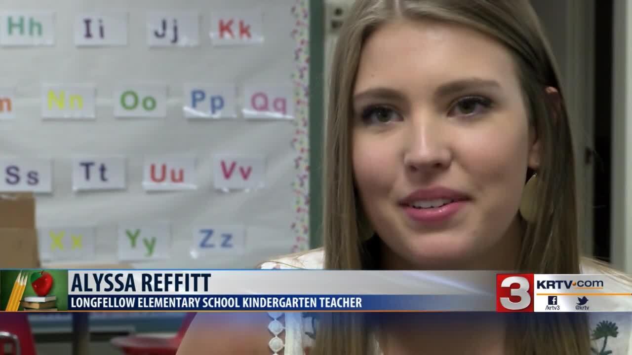 Alyssa Reffitt, a new kindergarten teacher at Longfellow Elementary School