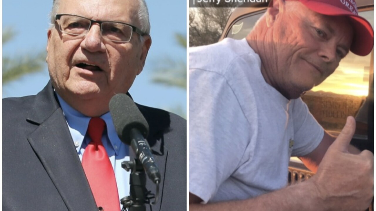 Joe Arpaio and Jerry Sheridan fight for Republican vote for Sheriff