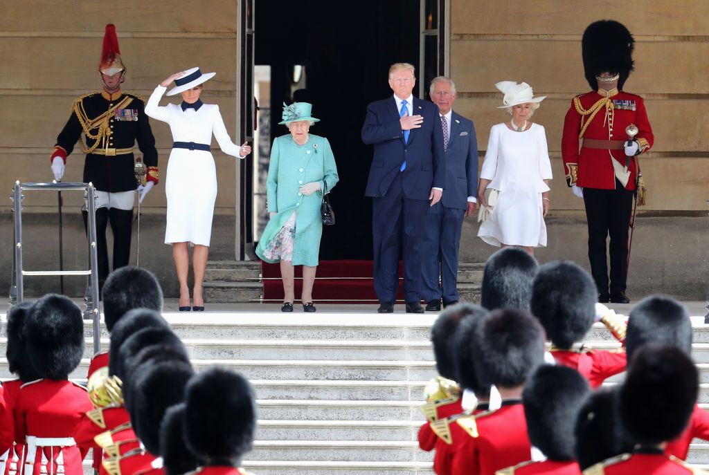 Photos: President Trump visits the Queen at Buckingham Palace