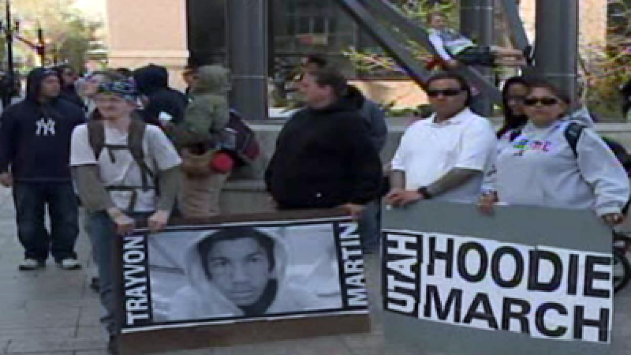 Utahns march in support of Trayvon Martin