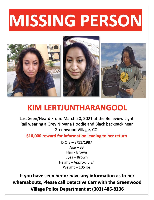 MISSING PERSON - Kim Lertjuntharangool
