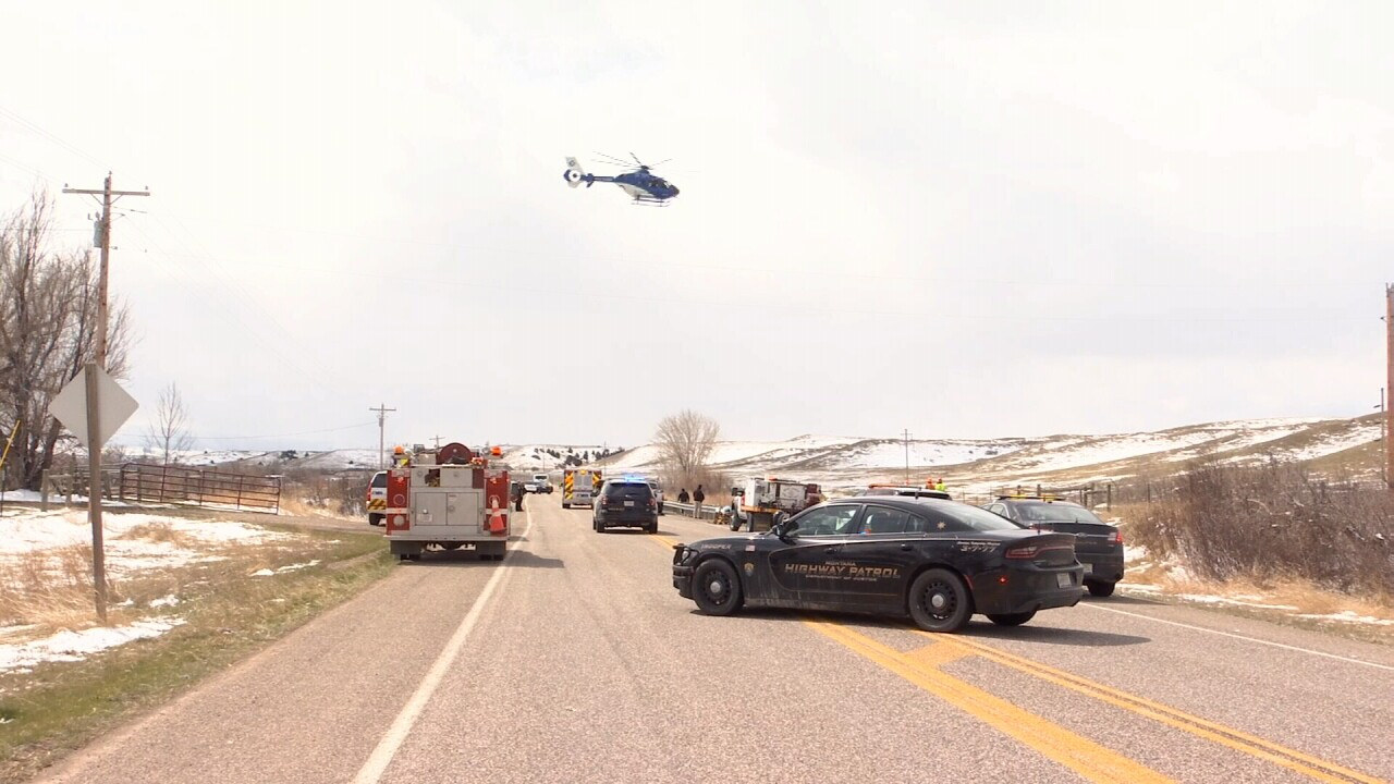 2 hospitalized after crash south of Billings