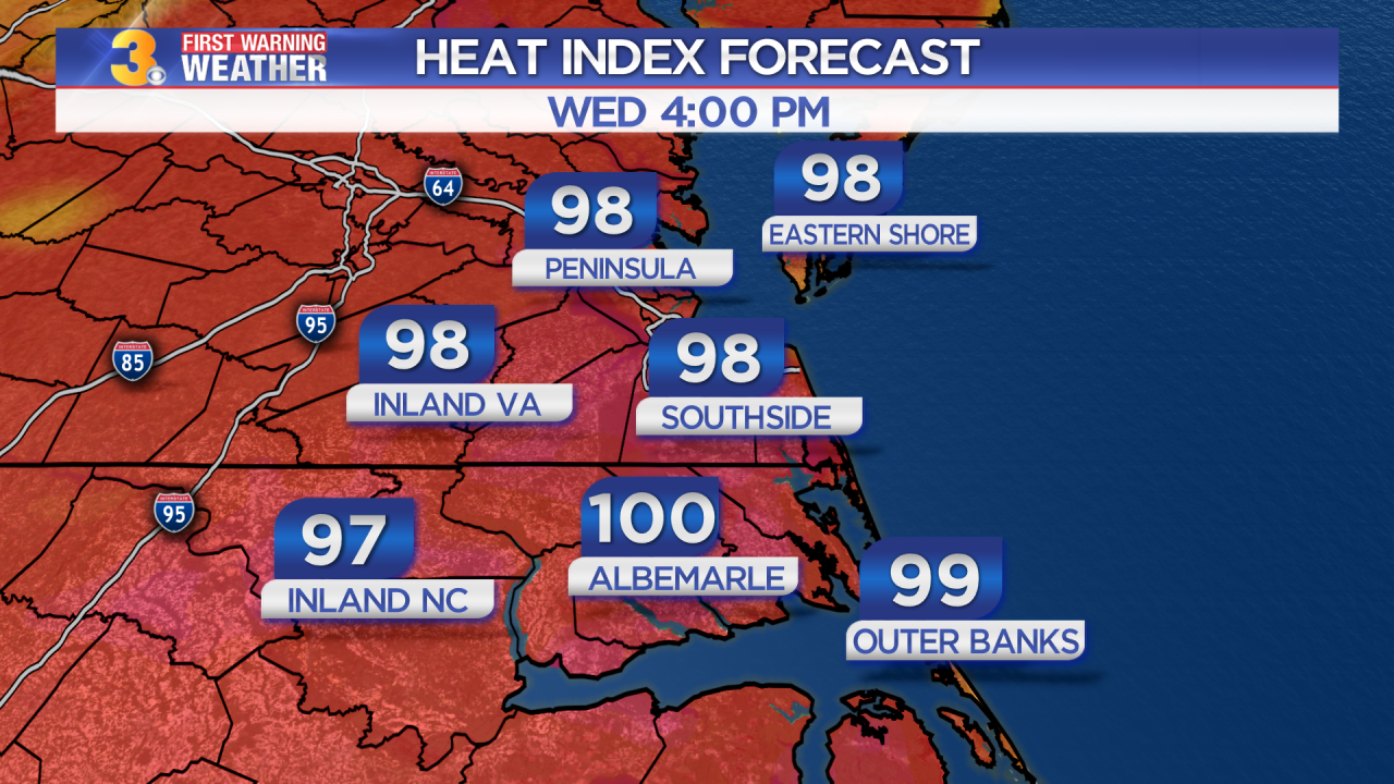 Wednesday's First Warning Forecast: Near record heat today
