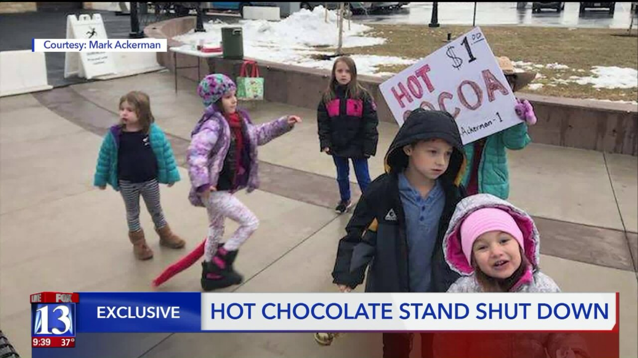 Parents say Herriman kids were wrongfully asked to shut down hot cocoa stand