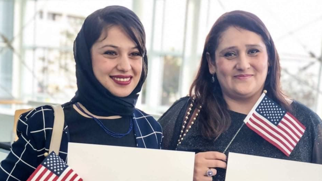 Muska Haseeb and her mother