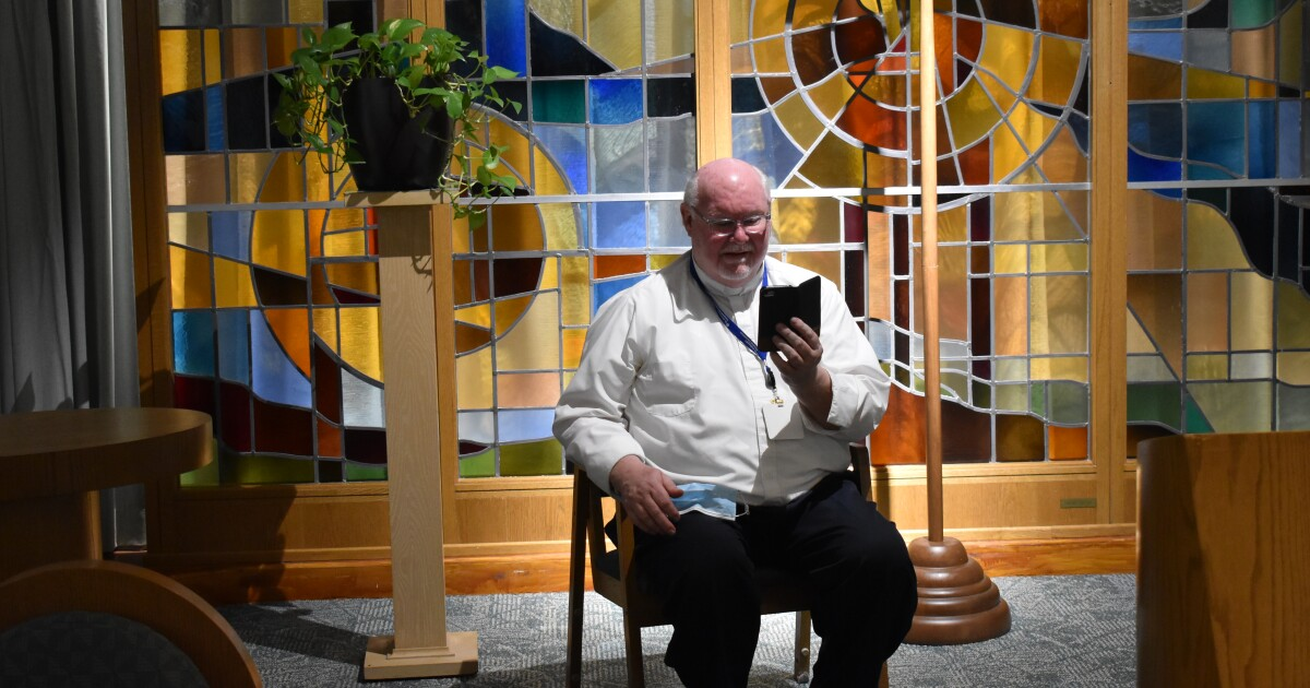 Hospital chaplains offers mass to empty chapels during COVID-19 pandemic