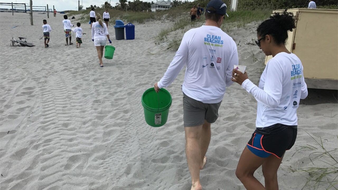 Beach cleanup held in Delray Beach