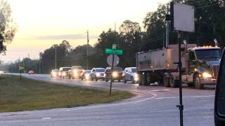 Traffic at the intersection of Seminole Pratt Whitney Road and Northlake Boulevard on March 11, 2019.