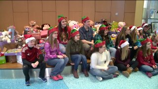 Toy drive makes delivery at DeVos Children's Hospital