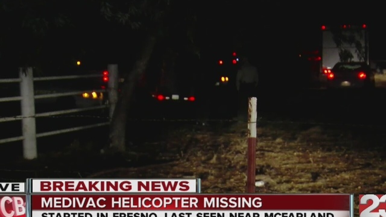 Medical chopper crashes in Kern Co., 4 killed