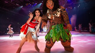Moana and Maui Disney on Ice
