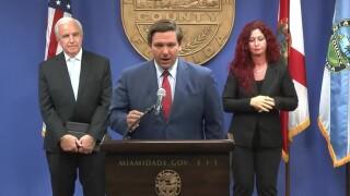 Gov. Ron DeSantis at hurricane season news conference, June 8, 2020