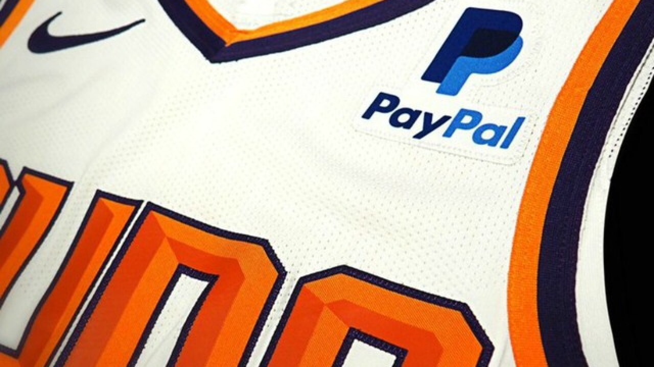 Suns add PayPal patch to uniforms as part of major partnership announcement