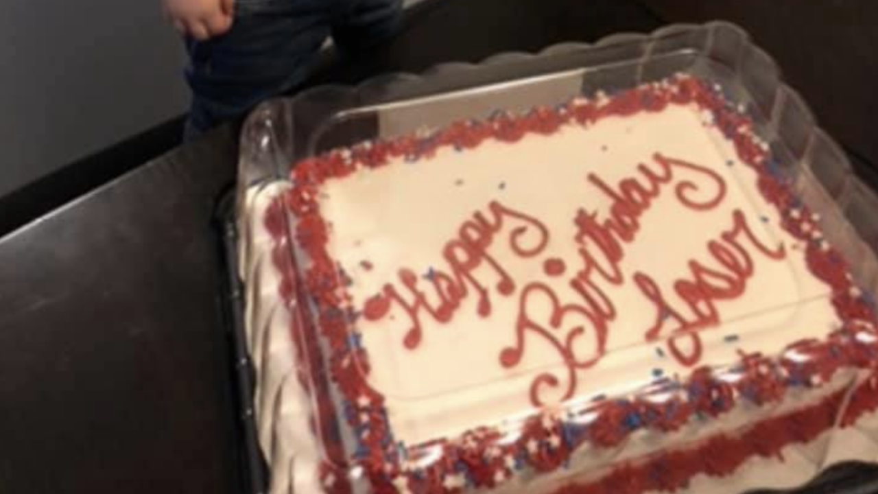 'Happy birthday loser!': 2-year-old's epic cake fail