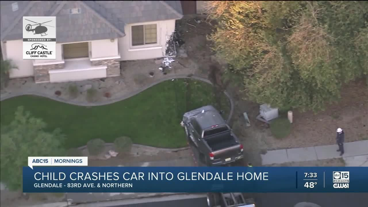 Authorities in Arizona have reported a 6-year-old child took his parents' car keys and drove a pickup truck into a nearby home, causing a gas leak in the house.