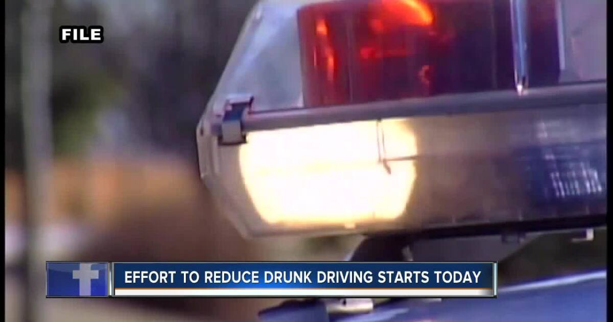 Effort to reduce drunk driving starts today