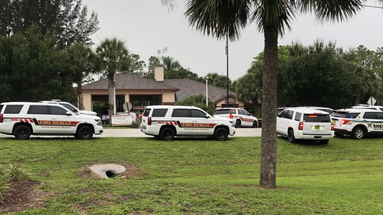 Deputies respond to Palm Beach County Fire Rescue Station #26, located at 6085 Avocado Boulevard, on July 12, 2021 (3).jpg