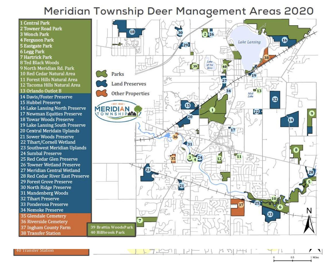 Meridian Township Deer Management Areas