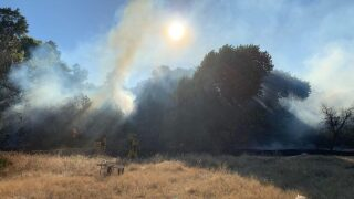 60+ firefighters help put out Paso Robles riverbed fire