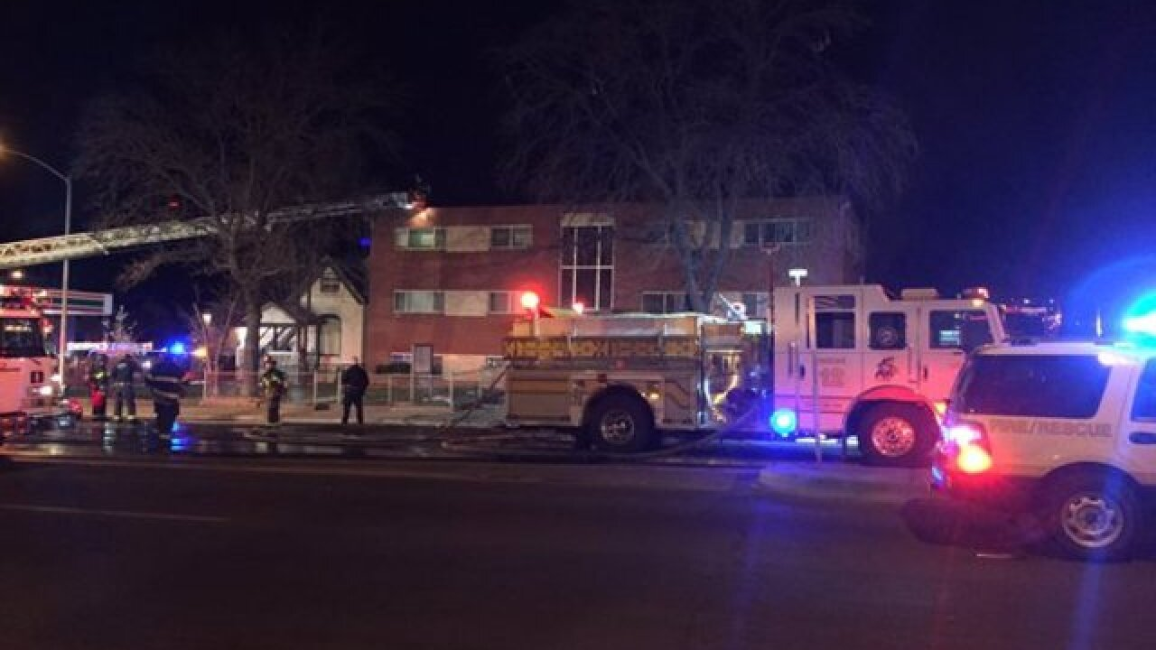Residents jump to escape Denver apartment fire