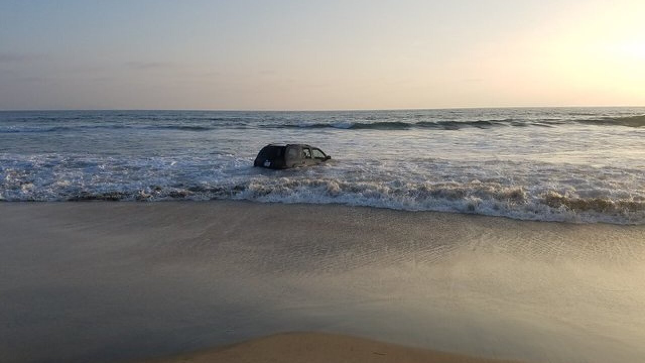 Calif. DUI suspect drove onto beach