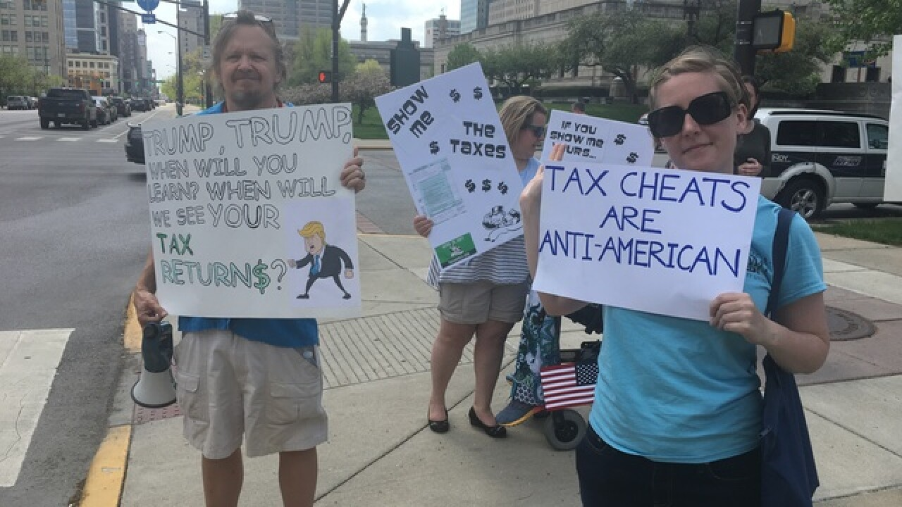 Tax March demands Trump release returns