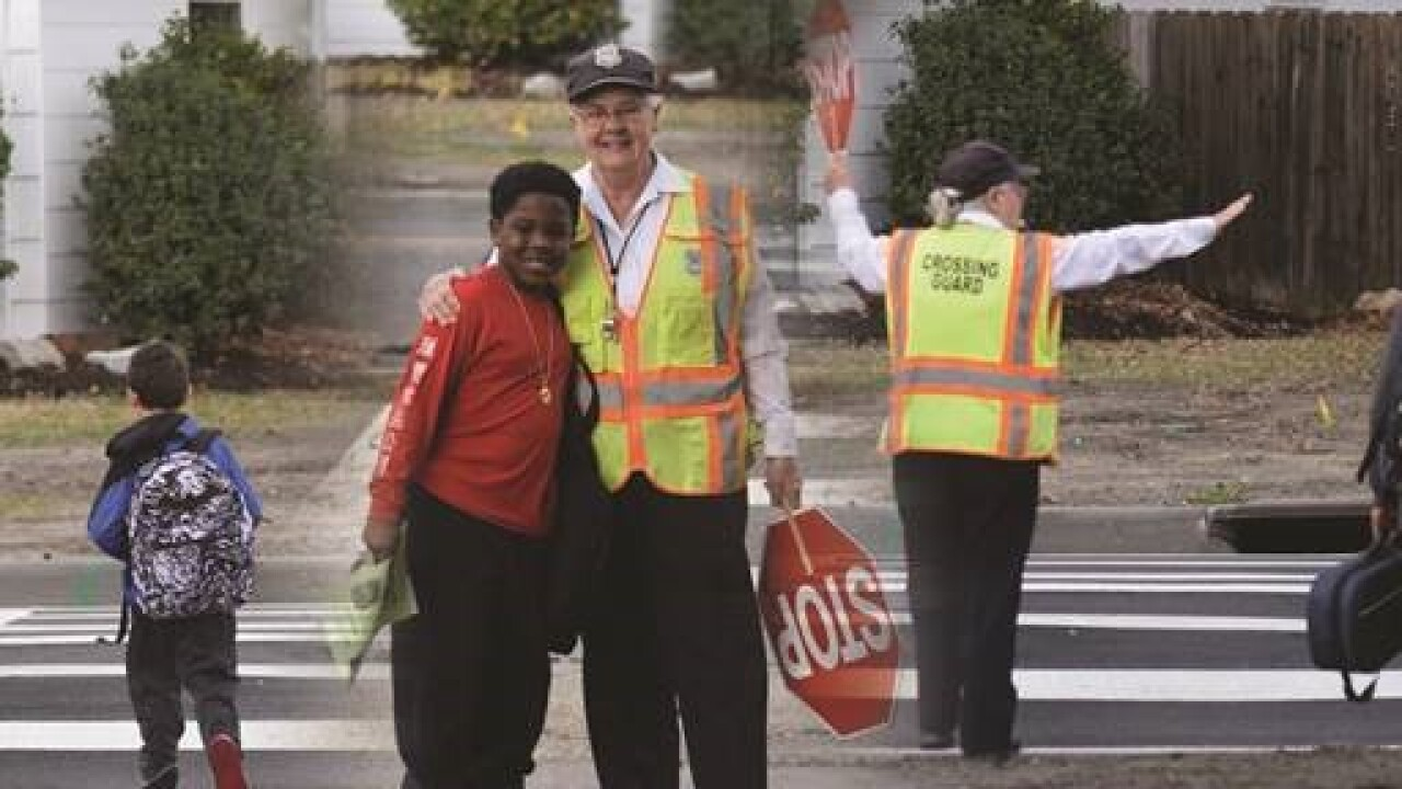 Norfolk crossing guard honored as one of Virginia's most outstanding crossing guards