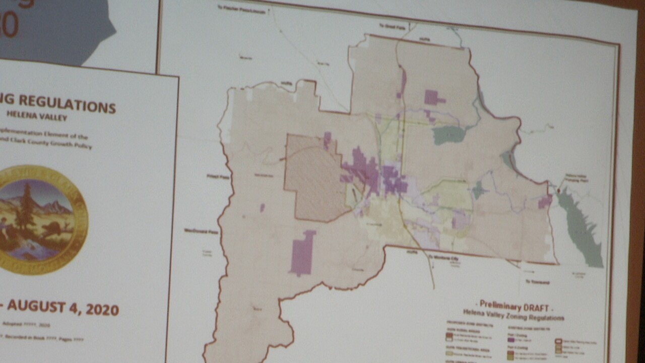 Helena Valley Zoning Map
