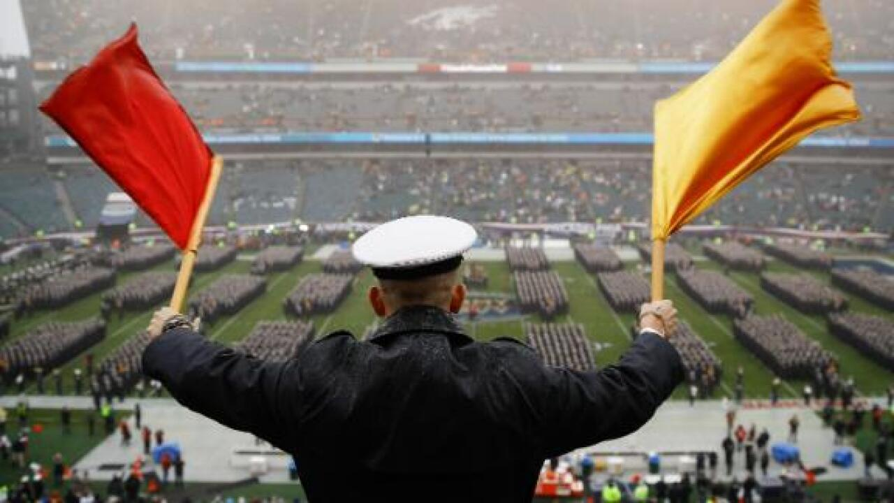 Hand gestures at Army-Navy game were 'circle game' and not racist, US service academies say