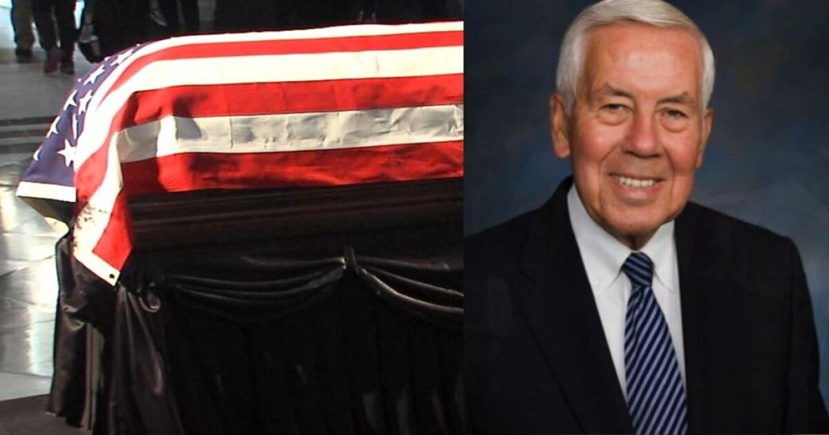 Lugar burial will be at Arlington National Cemetery
