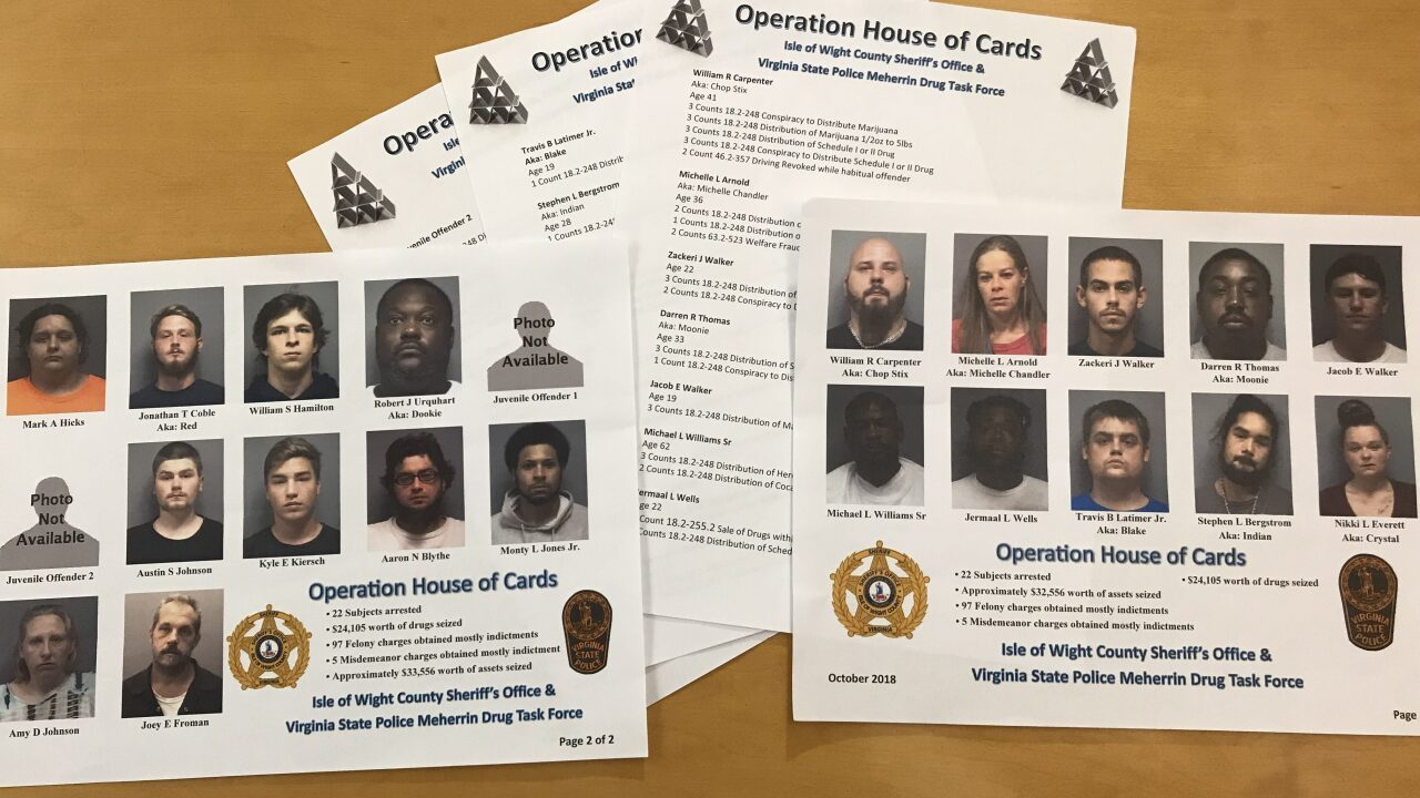 'House of Cards' drug roundup results in arrest of Isle of Wight narcoticsdealers