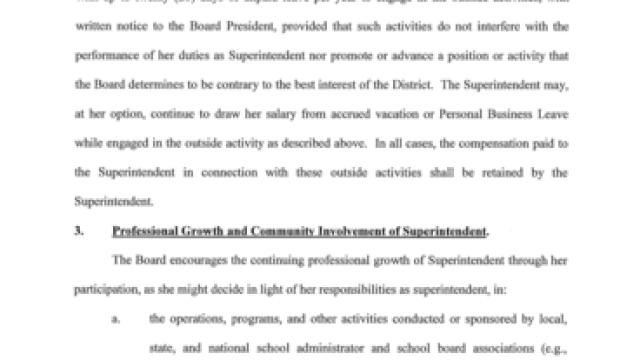 TPS superintendent contract