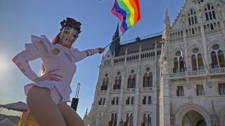 APTOPIX Hungary LGBT Demonstration