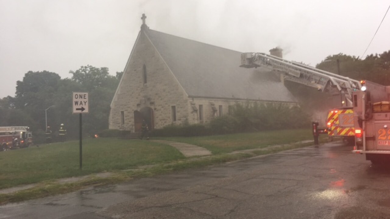 Historic 70-year-old Indy church catches fire