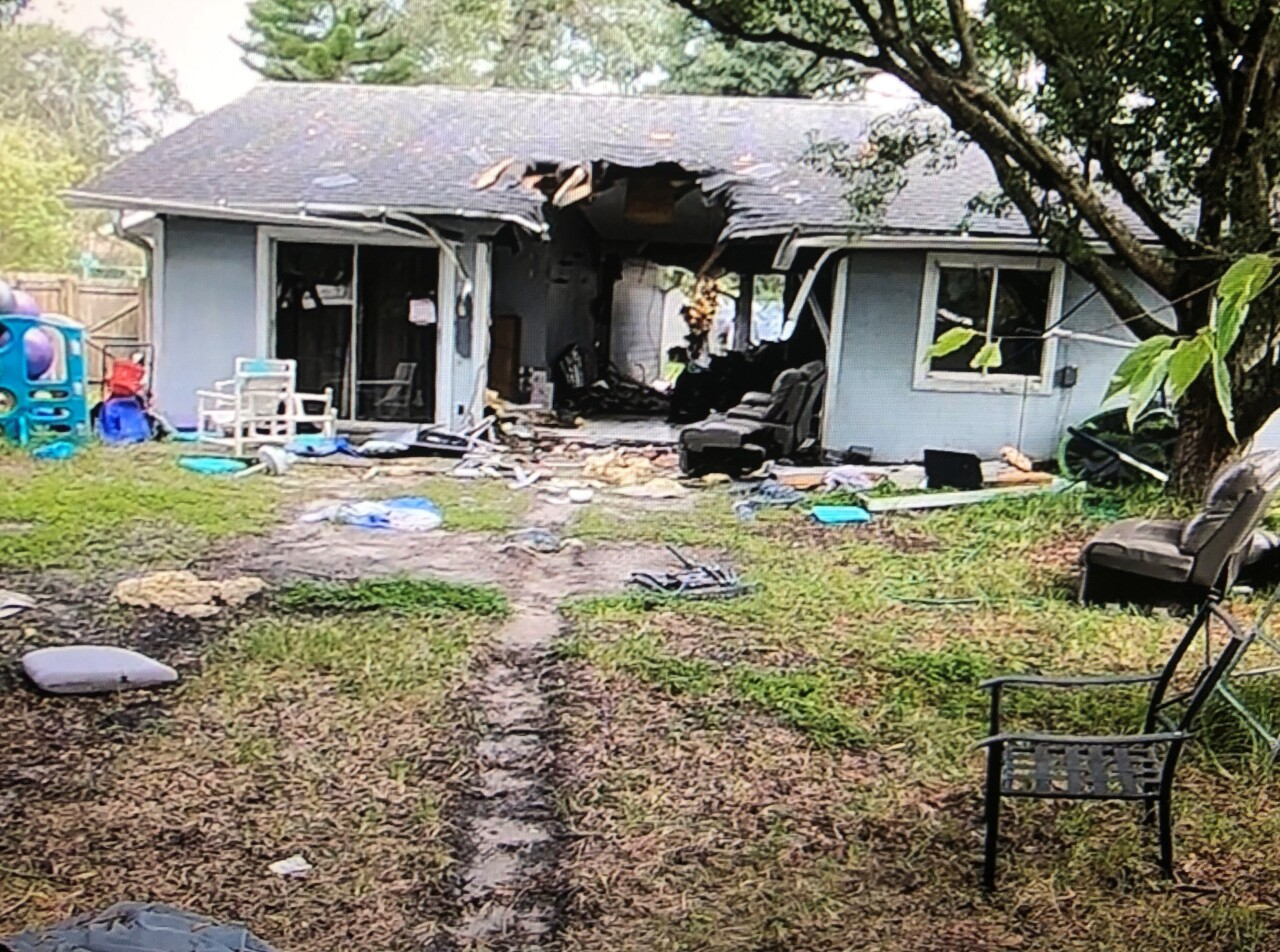 House hit by Tesla Model S Plaid