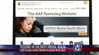Children's groups declare national emergency for children's mental health