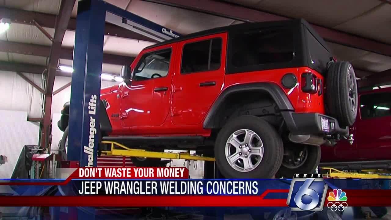 Welding concerns for Jeep Wrangler