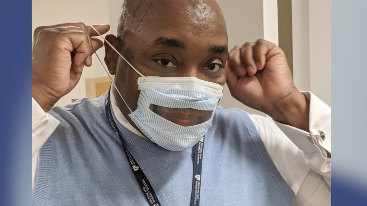 Transparent medical masks helping hearing-impaired patients